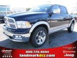 2012 True Blue Pearl Dodge Ram 1500 Laramie Crew Cab 4x4 #57217079