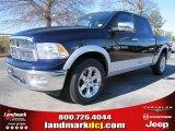 2012 True Blue Pearl Dodge Ram 1500 Laramie Crew Cab #57217076