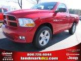 2012 Flame Red Dodge Ram 1500 Express Regular Cab #57217069