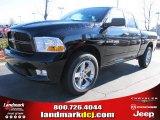 2012 Black Dodge Ram 1500 Express Quad Cab #57217067