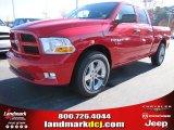 2012 Flame Red Dodge Ram 1500 Express Quad Cab #57217064