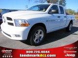 2012 Bright White Dodge Ram 1500 Express Quad Cab #57217063