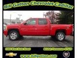 2012 Victory Red Chevrolet Silverado 1500 LT Crew Cab 4x4 #57217633