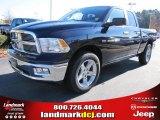 2012 True Blue Pearl Dodge Ram 1500 Big Horn Quad Cab #57217060