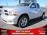 2012 Bright Silver Metallic Dodge Ram 1500 Express Quad Cab #57217059