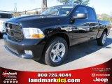 2012 Black Dodge Ram 1500 Express Quad Cab #57217057