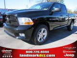 2012 Black Dodge Ram 1500 Express Quad Cab #57217056