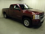 2008 Deep Ruby Metallic Chevrolet Silverado 1500 LS Extended Cab #57217333