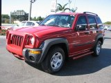 2002 Flame Red Jeep Liberty Sport #57217566