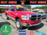 2007 Flame Red Dodge Ram 1500 SLT Quad Cab 4x4 #57217461
