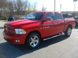 2012 Flame Red Dodge Ram 1500 Sport Crew Cab 4x4 #57217455