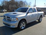2012 Bright Silver Metallic Dodge Ram 1500 Sport Quad Cab 4x4 #57217454