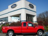 2012 Vermillion Red Ford F250 Super Duty XLT SuperCab 4x4 #57271523