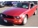 2007 Torch Red Ford Mustang V6 Deluxe Convertible #57271503