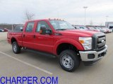 2012 Vermillion Red Ford F250 Super Duty XL Crew Cab 4x4 #57271409