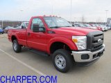 2012 Vermillion Red Ford F250 Super Duty XL Regular Cab 4x4 #57271405