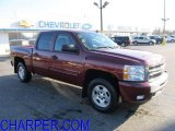 2009 Deep Ruby Red Metallic Chevrolet Silverado 1500 LT Crew Cab 4x4 #57272222