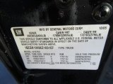 2006 Chevrolet Silverado 1500 LT Extended Cab 4x4 Info Tag