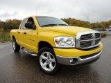 2007 Detonator Yellow Dodge Ram 1500 Big Horn Edition Quad Cab 4x4 #57271319