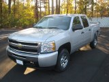 2011 Sheer Silver Metallic Chevrolet Silverado 1500 LS Crew Cab #57272147