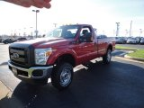 2012 Vermillion Red Ford F250 Super Duty XL Regular Cab 4x4 #57271261