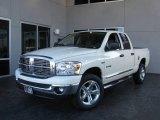 2008 Bright White Dodge Ram 1500 Big Horn Edition Quad Cab 4x4 #5713936