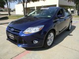 2012 Kona Blue Metallic Ford Focus SEL Sedan #57271229