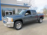 2012 Blue Granite Metallic Chevrolet Silverado 1500 LT Crew Cab 4x4 #57271593