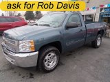 2012 Blue Granite Metallic Chevrolet Silverado 1500 LT Regular Cab 4x4 #57271541