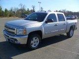 2012 Silver Ice Metallic Chevrolet Silverado 1500 LT Crew Cab 4x4 #57272039