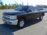 2012 Black Chevrolet Silverado 1500 LT Crew Cab #57272037
