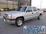 2005 Silver Birch Metallic Chevrolet Silverado 1500 LS Crew Cab 4x4 #57272001