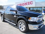 2012 Black Dodge Ram 1500 Laramie Longhorn Crew Cab 4x4 #57355334