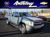 2008 Blue Granite Metallic Chevrolet Silverado 1500 LS Extended Cab 4x4 #57355719