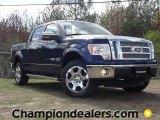 2011 Dark Blue Pearl Metallic Ford F150 Lariat SuperCrew 4x4 #57354829