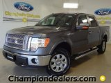 2011 Sterling Grey Metallic Ford F150 Lariat SuperCrew 4x4 #57354816
