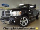 2008 Brilliant Black Crystal Pearl Dodge Ram 1500 Laramie Quad Cab #57355213