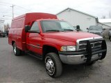 2000 Flame Red Dodge Ram 3500 SLT Regular Cab 4x4 Commercial #57355648
