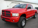 2002 Flame Red Dodge Ram 1500 Sport Quad Cab #57355641
