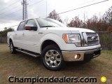 2011 White Platinum Metallic Tri-Coat Ford F150 Lariat SuperCrew #57354733