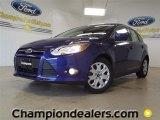 2012 Sonic Blue Metallic Ford Focus SE 5-Door #57355089