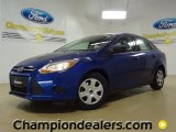 2012 Sonic Blue Metallic Ford Focus S Sedan #57355088