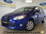 2012 Sonic Blue Metallic Ford Focus SE 5-Door #57355083