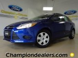 2012 Sonic Blue Metallic Ford Focus S Sedan #57355078