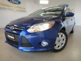 2012 Sonic Blue Metallic Ford Focus SE Sedan #57355074