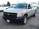 2008 Silver Birch Metallic Chevrolet Silverado 1500 Work Truck Extended Cab 4x4 #57354557