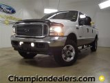 2004 Oxford White Ford F250 Super Duty Lariat Crew Cab 4x4 #57440231