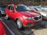 2011 Spicy Red Kia Sorento LX V6 AWD #57440189