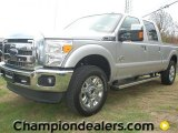 2012 Ingot Silver Metallic Ford F250 Super Duty Lariat Crew Cab 4x4 #57440225