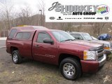 2008 Deep Ruby Metallic Chevrolet Silverado 1500 LT Regular Cab 4x4 #57447247